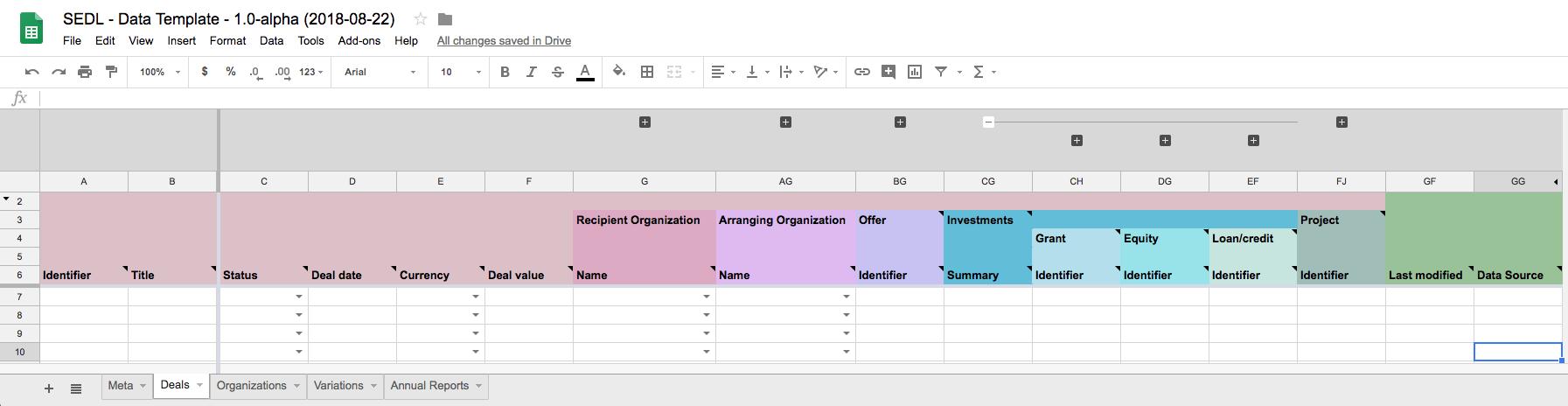 Data Templates Social Economy Data Lab Specification Alpha 00